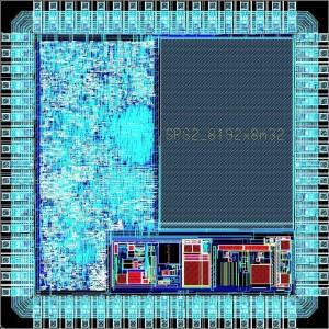"""IC-Entwurf des Chips """"Wearlog"""" mit eigenem Prozessorkern SIRIUS"""